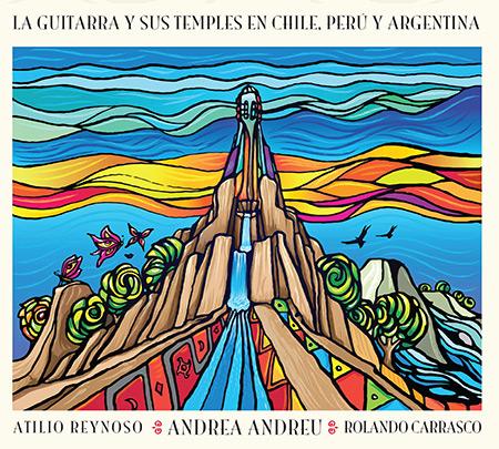 Portada del disco «La Guitarra y sus Temples en Chile, Perú y Argentina» de Andrea Andreu.