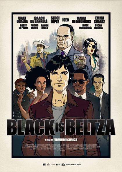 Cartel de la película «Black is Beltza» de Fermín Muguruza.