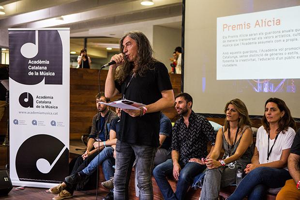 Gerard Quintana ha presentado hoy los Premios Alícia de la Acadèmia Catalana de la Música. © Pere Masramon