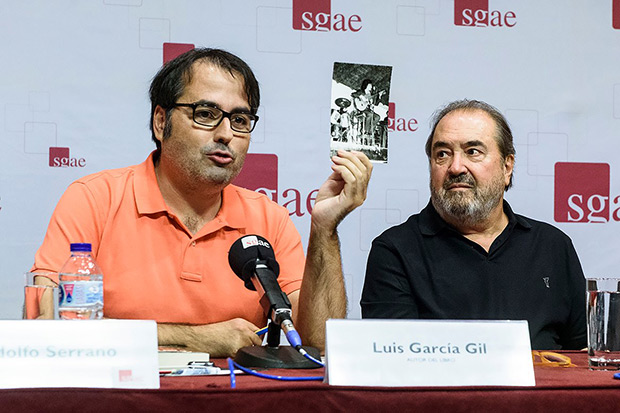Luis García Gil y Patxi Andión en la presentación de la SGAE. © SGAE|Luis Camacho