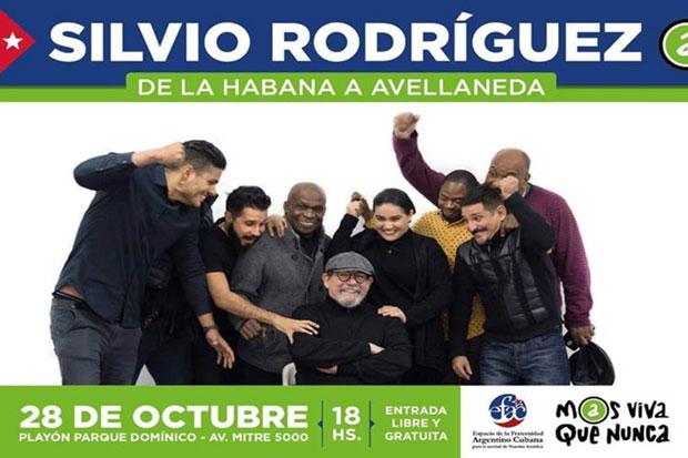 Silvio Rodríguez ofrecerá un concierto gratuito en Argentina.