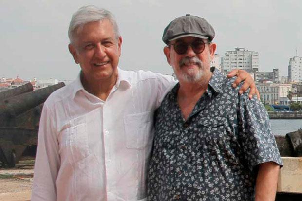 Andrés Manuel López Obrador y cubano Silvio Rodríguez.