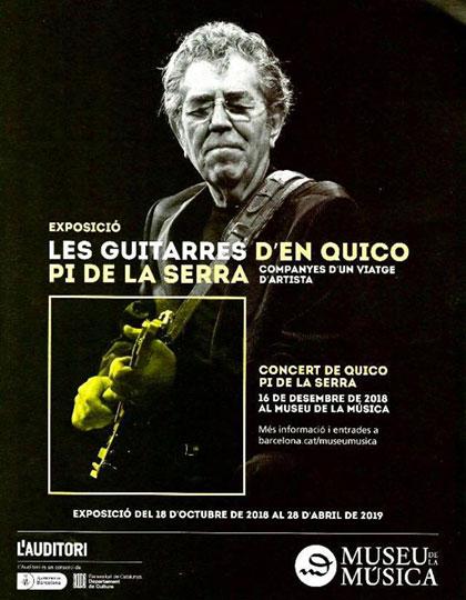 Las guitarras de Quico Pi de la Serra. Compañeras de un viaje de artista.