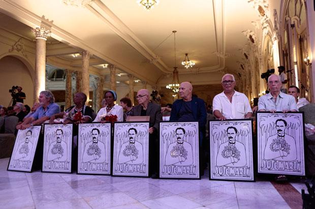Los «Maestros de Juventudes» de este año. Vicente Feliú, el tercero por la derecha. © AHS