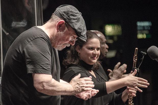 Silvio Rodríguez y Niurka González en en Buenos Aires. © Kaloian Santos Cabrera