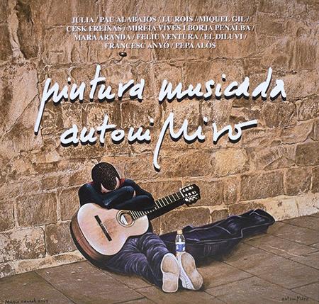 Portada del disco «Antoni Miró, pintura musicada».