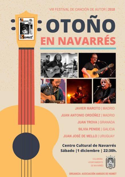 VIII Festival de Canción de Autor: Otoño en Navarrés.