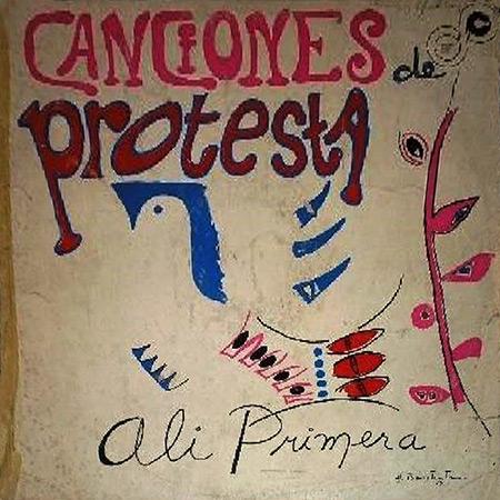 Portada del disco «Canciones de protesta» de Alí Primera.