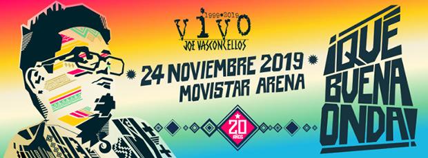 Joe Vasconcellos celebra en grande los 20 años del álbum «Vivo».
