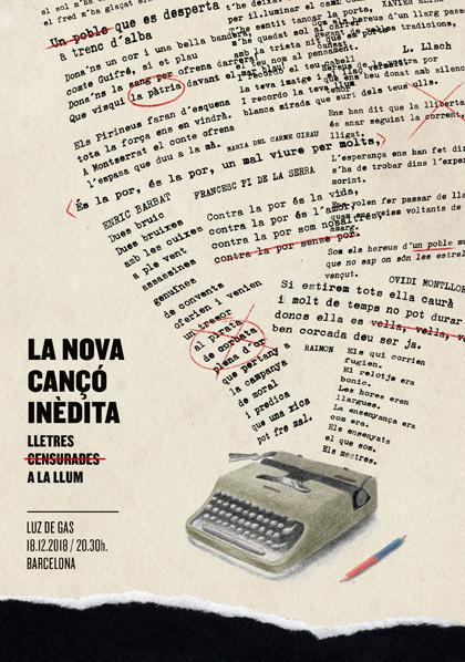 Concierto «La Nova Cançó Inèdita. Lletres censurades a la llum».