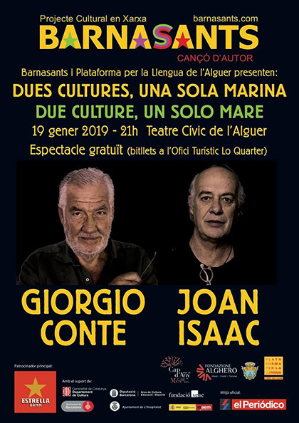 Joan Isaac y Giorgio Conte. Dos culturas, un solo mar.