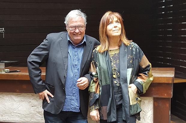 José María Vitier y Maria Del Mar Bonet, este miércoles en Barcelona. © Xavier Pintanel
