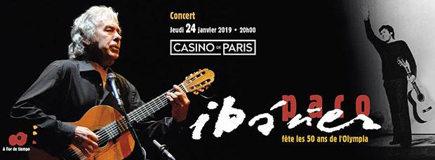 Paco Ibáñez comienza en París su gira de los 50 años de su concierto mítico.