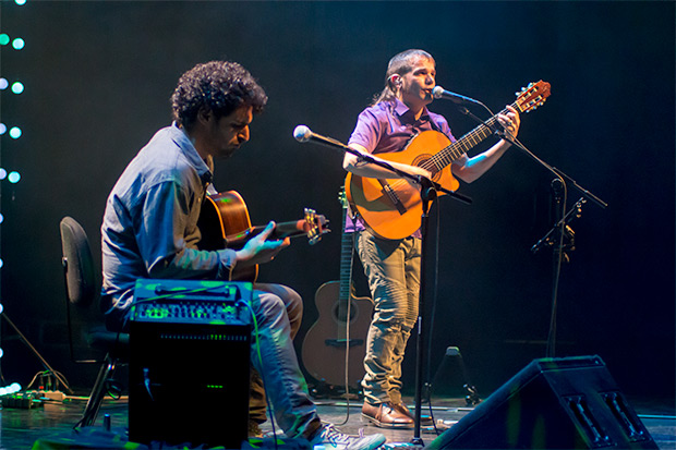Cesk Freixas abrió la vigésimo cuarta edición del Festival BarnaSants en el Auditori de Barcelona. © Xavier Pintanel