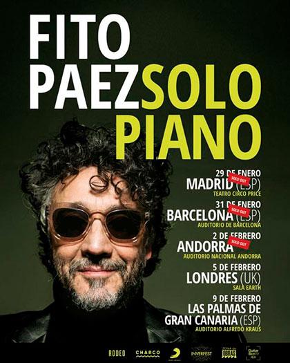 Gira europea «Solo Piano» de Fito Páez.