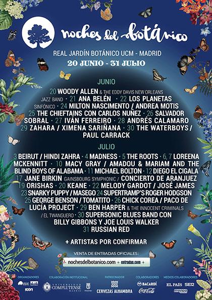 IV Noches del Botánico Madrid 2019.