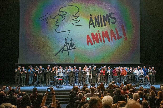 Fin de fiesta del concierto «Ànims Animal». © Lorenzo Duaso