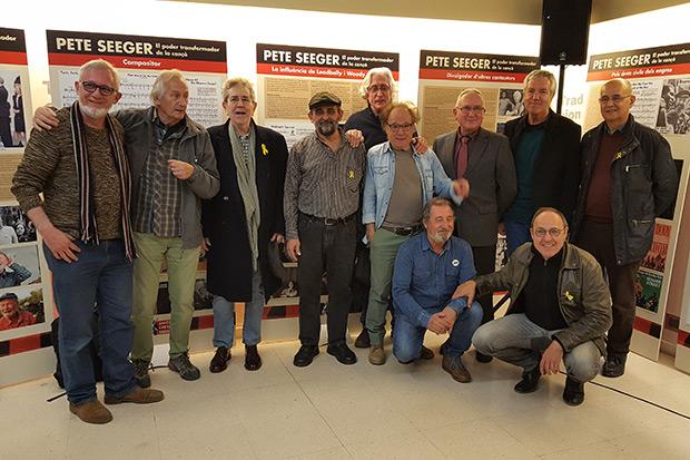 Presentación de la exposición «Pete Seeger: el poder transformador de la cançó». © Xavier Pintanel
