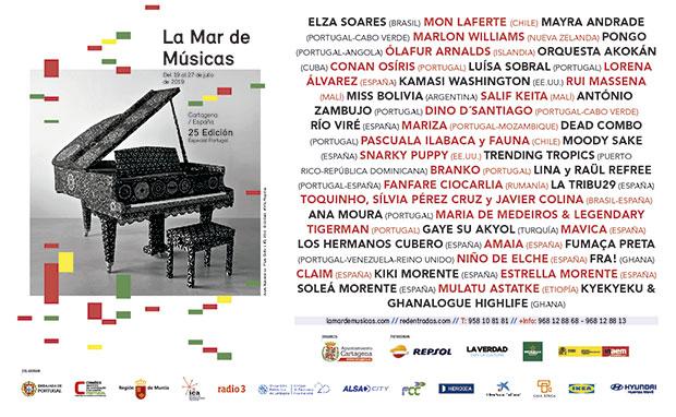 XXV festival La Mar de Músicas de Cartagena 2019.