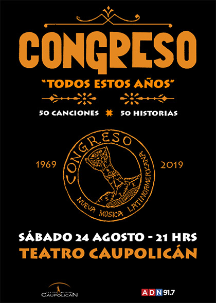 Congreso celebrará sus 50 años con masivo concierto en Santiago.