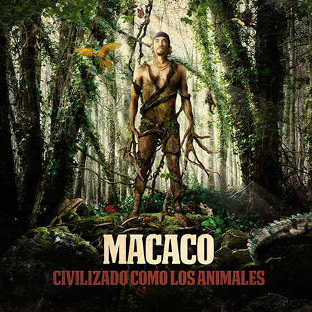 Portada del disco «Civilizado como los animales» de Macaco.