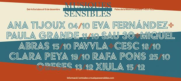 VII Festival Músiques Sensibles 2019.