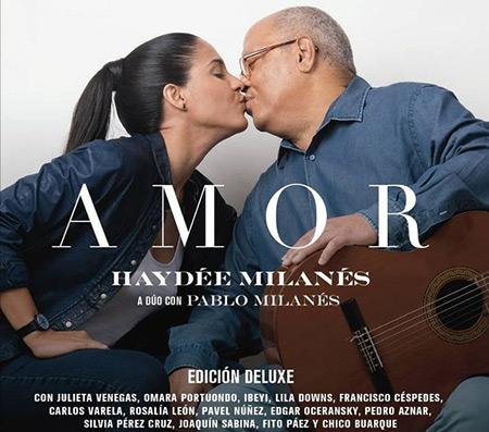 Portada del disco «Amor Edición Deluxe» de Haydée Milanés y Pablo Milanés.