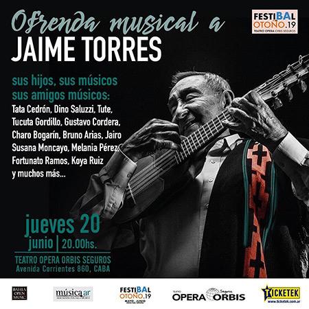 Familiares, músicos y amigos organizan la Ofrenda Musical a Jaime Torres.