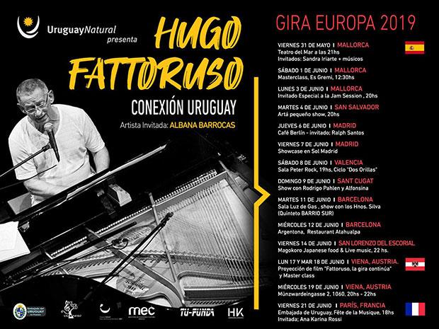 Hugo Fattoruso en Europa