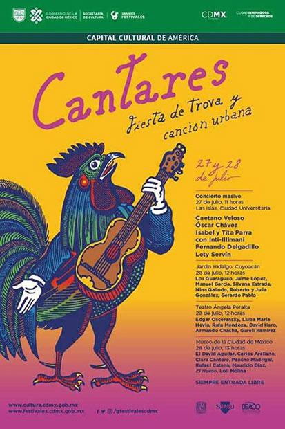 I Festival Cantares, Fiesta de Trova y Canción Urbana en la Ciudad de México