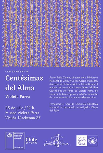 Se publica «Centésimas del Alma» con manuscritos inéditos de Violeta Parra.