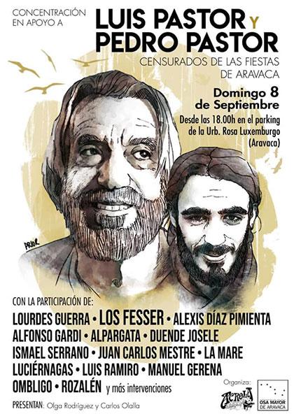 Aravaca, acogerá a Luis y Pedro Pastor en un concierto tras ser censurados.