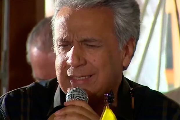 El presidente de Ecuador, Lenín Moreno canta «Pare» de Serrat en la Cumbre sobre la Amazonía.