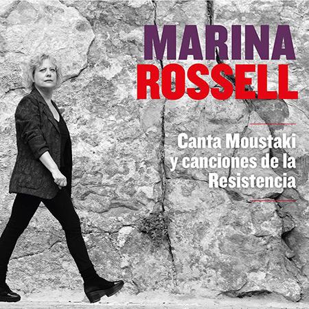 Portada del disco «Canta Moustaki y canciones de la Resistencia» de Marina Rossell.