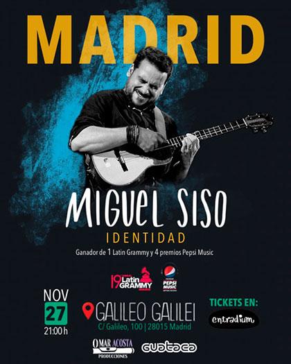Miguel Siso presenta «Identidad» en Madrid.