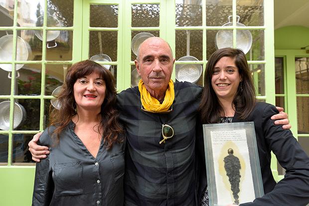 Rosa María Arrazola, Lluís Llach y Clàudia Cabero. © Xavier Mercadé