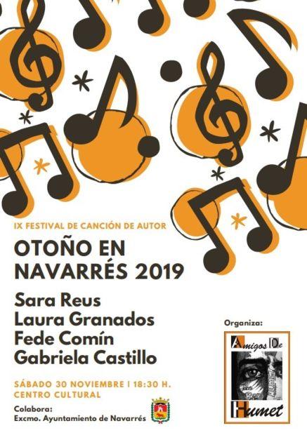 IX Festival de Canción De Autor «Otoño en Navarrés».