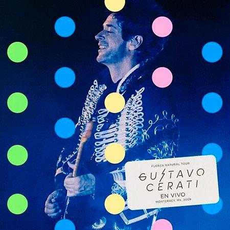 Portada del disc «Fuerza Natural Tour, Gustavo Cerati, en vivo en Monterrey, MX, 2009» GustavoCerati.