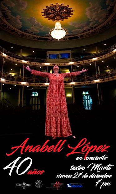 Anabell López celebra sus 40 años de vida artística.