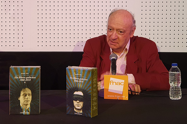 Jaume Sisa presenta «Els llibres galàctics 1966-2018». © Xavier Pintanel