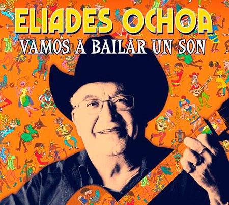 Portada del disco «Vamos a bailar un son» de Eliades Ochoa.