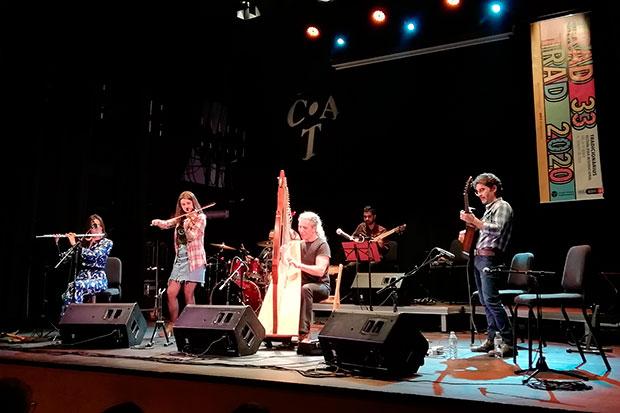 Josep Maria Ribelles, en el concierto del pasado 1 de febrero en el marco del XXXIII  Festival Folk Internacional Tradicionàrius 2020. © Pol Ducable