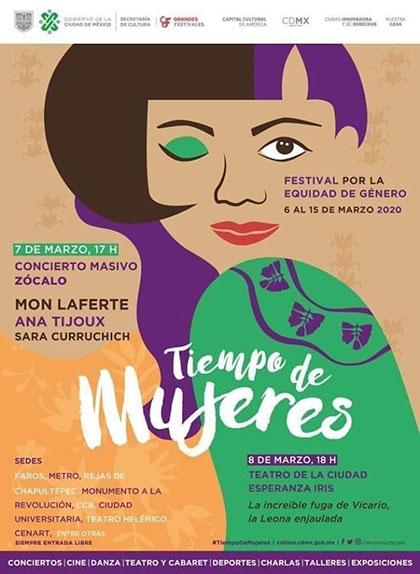Festival por la Equidad de Género Tiempo de Mujeres 2020 México.