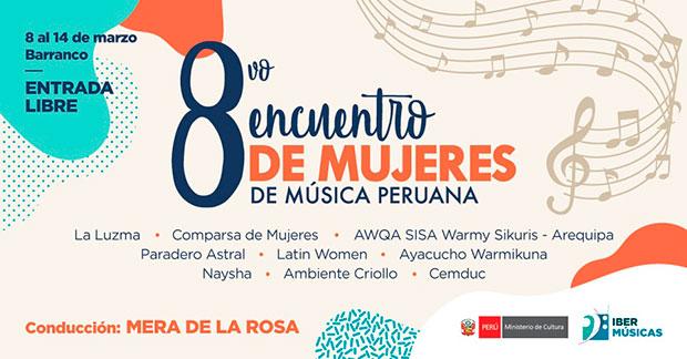 VIII Encuentro de Mujeres de Música Peruana 2020.