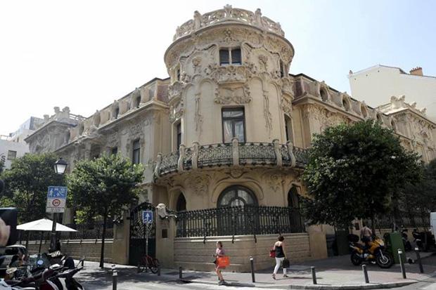 Fachada de la Sociedad General de Autores Españoles (SGAE). © EFE|Chema