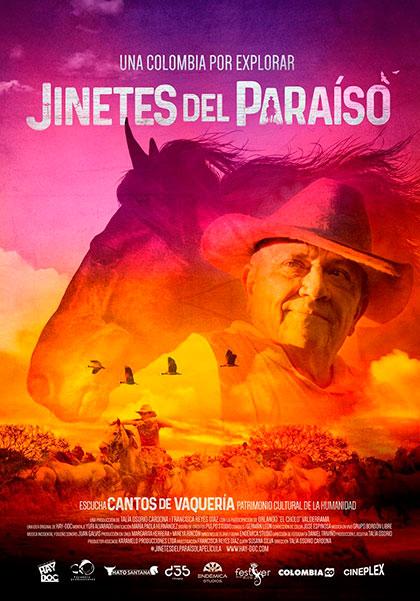 Cartel de la película «Jinetes del paraíso» de Talía Osorio.