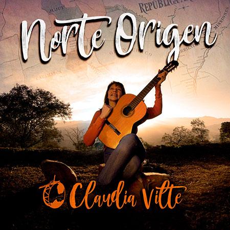 Portada del disco «Norte Origen» de Claudia Vilte.