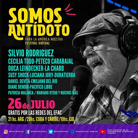 Somos antídoto, voces latinoamericanas unidas en un concierto virtual.
