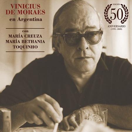 Portada del disco «Vinícius de Moraes en Argentina» de Vinícius de Moraes.