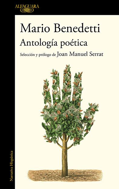 Portada del libro «Mario Benedetti. Antología poética» seleccionada y prologada por Joan Manuel Serrat.